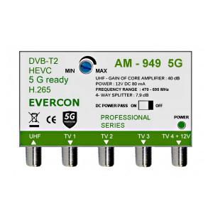 HEVC ant zesilovač pro 4 TV Evercon AM-949 5G