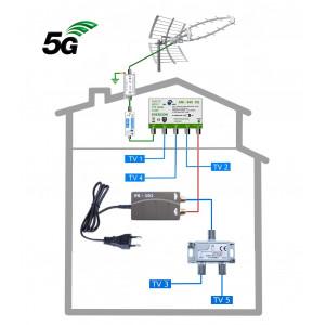 DVB-T2 anténní komplet KOM-949-101-5 GSA