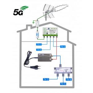 DVB-T2 anténní komplet KOM-949-101-6 GSA