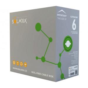Síťový kabel Solarix CAT 6 GREY - krabice 305 m