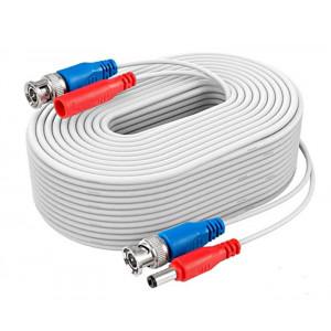 Napájecí a signálový kabel pro kamery EVERCON AHD-18 WHITE