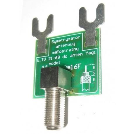 Symetrizační člen s F konektorem
