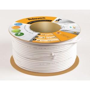 Koaxiální kabel CU TELEVES 7 mm - cívka 100m