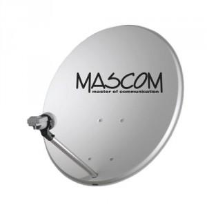 Satelitní parabola Offset 80cm, ocel - bílá