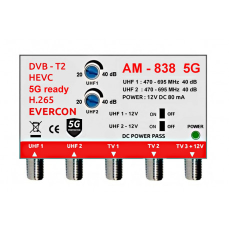 HEVC ant zesilovač Evercon AM-838 5G