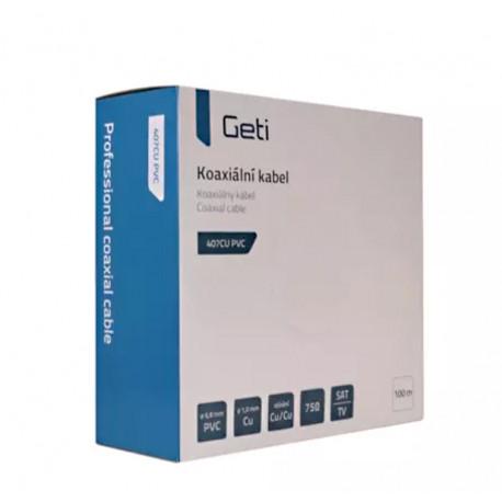 Venkovní koaxiální kabel GETI 401 AL PE - krabice 100 metrů